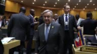 The 28th Ordinary Session of the Assembly of the African Union is held in Addis Ababa Ethiopia on January 30 2017 African Union leaders including...