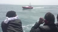 The 388 migrants who were rescued by the NGOs SOS Mediterranean and MSF on board the MS Aquarius arrive in Cagliari Sardinia