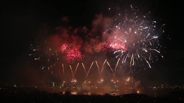 Adachi Ward Tokyo Japan July 22 2017 The 39th Adachi Fireworks Adachi's annual fireworks festival since 1924 During the hourlong show around 12000...