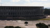 The 72000seat Mane Garrincha Stadium used during the 2014 FIFA World Cup stands on June 5 2015 in Brasilia Brazil