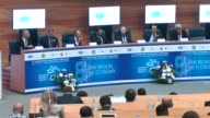 """The 8th Sarajevo Business Forum is held under the motto """"One Region One Economy"""" in Sarajevo Bosnia and Herzegovina on May 22 2017 Montenegrin..."""