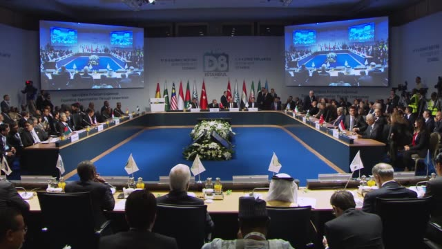 The 9th Summit of the Developing Eight Organization for Economic Cooperation kicks off in Istanbul Turkey on 20 October 2017 Turkish President Recep...