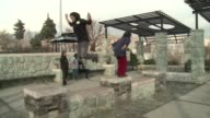 The acrobatic sport of parkour is increasingly popular in Tehran CLEAN Fast paced parkour offers outlet for Irani on March 19 2014 in Tehran Iran