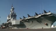 The aircraft carrier Charles de Gaulle accompanied by a naval air squadron is performing a stopover in the port of Abu Dhabi before participating in...