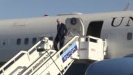 The airplane of US Secretary of State John Kerry touches down in Havana