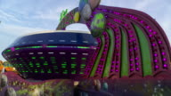 CU of the 'Alien Abduction Ride' at an Amusement Park on the New Jersey Shore.