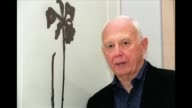 The American artist Ellsworth Kelly known for hard edge paintings simplicity of form in sculpture and brightly colored abstract designs in his...