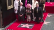 The American singer Cyndi Lauper 62 unveiled her Hollywood Walk of Fame star in Los Angeles