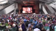The annual Broadway in Chicago Summer Concert takes the stage at the Jay Pritzker Pavilion at Millennium Park in Chicago USA on August 14 2017