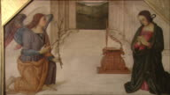 MS ZO The Annunciation attributed to Giannicola di Paolo (Giannicolo da Perugia), oil on wood, late 15th century / The National Gallery, London, United Kingdom