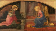 MS The Annunciation by Fra Filippo Lippi, egg tempera on wood, circa 1450-3 / The National Gallery, London, United Kingdom