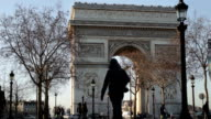 The arc de Triomphe, winter