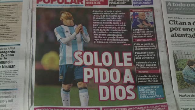 The Argentine national team will live their most dramatic hour in almost 50 years their last chance to spare football fans a World Cup without the...
