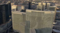 The Aria Resort in Las Vegas displays rounded architecture..