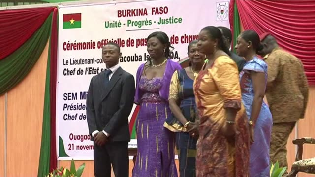 The army strongman in charge of Burkina Faso since the ouster of veteran leader Blaise Compaore three weeks ago formally hands power to interim...