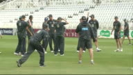 Australia Net Practice ENGLAND Nottingham Trent Bridge General views of Australian Cricket team in training including Darren Lehmann Michael Clarke...