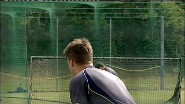 Austrian cricket team arrival and net practice General views Australian cricket team net practice
