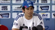 Fourth test preview ENGLAND INT Alastair Cook press conference SOT
