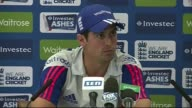 Alistair Cook press conference ENGLAND London Lord's cricket ground INT Alastair Cook press conference SOT