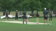 Australia training Australia cricket team net practice and on cricket pitch