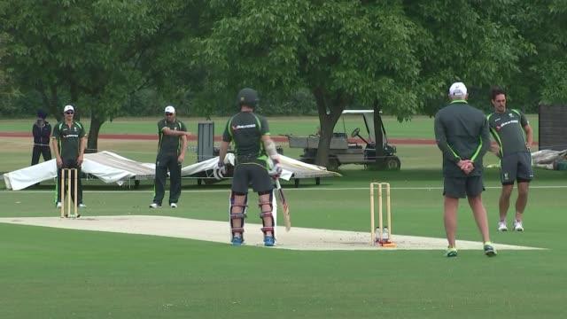 Australia training Australia cricket team net practice and on cricket pitch