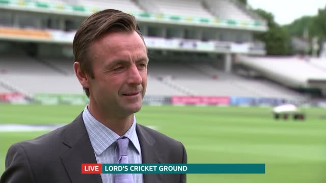 Second test preview ENGLAND London Lord's Cricket Ground EXT John Stephenson interview SOT
