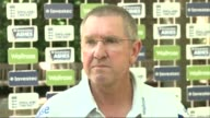 Trevor Bayliss preseries interview Trevor Bayliss press conference SOT/ CUTAWAYs of Bayliss talking to reporters