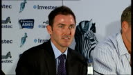 England Cricket team press conference General view of press conference / Damien Martyn SOT