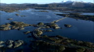 The Atlantic Road runs along the coast of Norrway Available in HD.