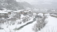 The Authentic Asenova Quarter In The Historic Town Of Veliko Tarnovo Covered By Snow