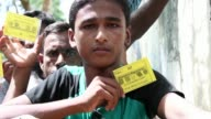 The Bangladesh authorities issue Rohingya with ID cards stating their nationality as Myanmar as government attempts to register and manage a huge...