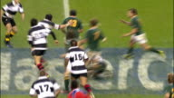The Barbarians tackle Ndungane after a rough catch Barbarians v Springboks 4th December 2010 Available in HD