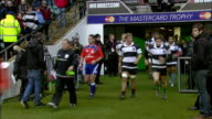 The Barbarians team take the field for the second half of the match Barbarians v springboks 4th December 2010 Available in HD