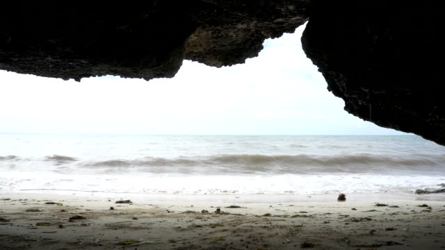 The beach from under the rock