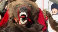 The bear is a symbol of strength and courage in Romania and in the town of Comanesti the animals are at the heart of an unusual New Year festival...