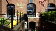 The Beatles Story Exhibition at Albert Dock on August 14 2017 in Liverpool England The dock forms part of Liverpool's UNESCO World Heritage site and...
