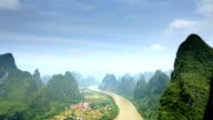 The beautiful lijiang river waterway