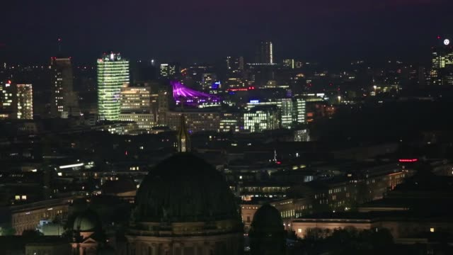 The Berliner Zeitung building from above in Berlin Germany on Monday 27th October beauty shots of the Berlin skyline at sunset and night