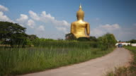 The biggest golden buddha statue