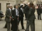 The 'Birmingham Six' speak to the crowds outside the Old Bailey having had their convictions for carrying out the Birmingham bombings overturned and...