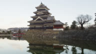 The Black Castle of Matsumoto in the Japanese Alps in early Morning Light, Matsumoto