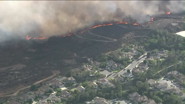 KTLA The blaze broke out near South Idaho Street and West Risner Way in La Habra on September 8 2015 The fire's location bordered Fullerton