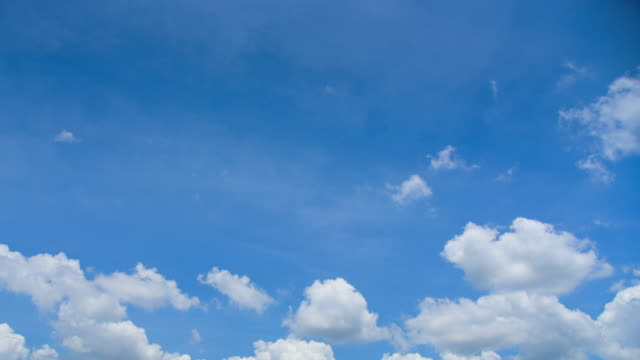 The blue sky with white clouds