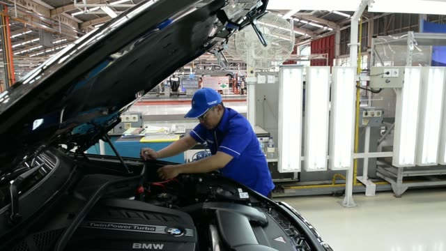 The BMW AG X5 Advanced Diesel sportutility vehicle stands on the production line at a PT Gaya Motor assembly plant in Jakarta Indonesia on Friday...
