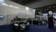 The BMW Alpina B4 BiTurbo is displayed at the 43rd Tokyo Motor Show 2013 in Tokyo Japan on Wednesday Nov 20 BMW Alpina D3 BiTurbo engine Attendees...