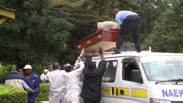 The bodies are laid out on metal blocks victims from all walks of life lying side by side amid a stench of death in Nairobi City Mortuary CLEAN...