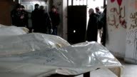 The bodies of a pro regime fighters arrived on Wednesday at a morgue in the northern and rebel controlled part of the Syrian city of Aleppo a day...