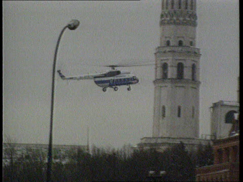 The Boris Yeltsin collection Moscow Kremlin G/AIR Helicopter along as lands in Kremlin carrying Helmut Kohl