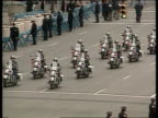 The Boris Yeltsin collection New York United Nations TGV Police motor bikes heading motorcade TGV Cars arriving at UN Building