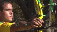 The bow string twangs and Bernardo Oliveira one of Brazil's army of military sponsored Olympic athletes sends his arrow swooping into the target 70...